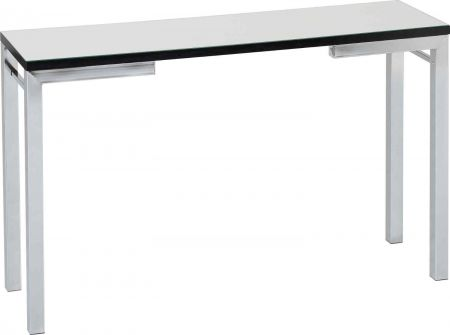 Varing Console Table Mirrored and Black Trim