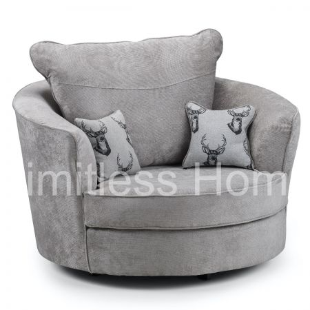 Holme Swivel Chair Grey