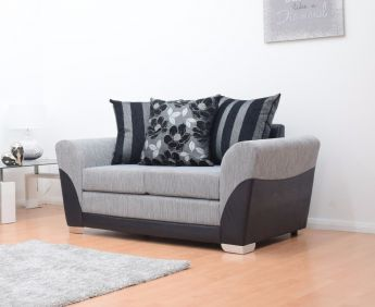 Vermont 2 Seater Hand Crafted Sofa - Black & Grey