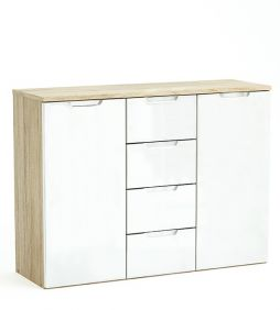 Clio 2 Door 4 Drawer Sideboard