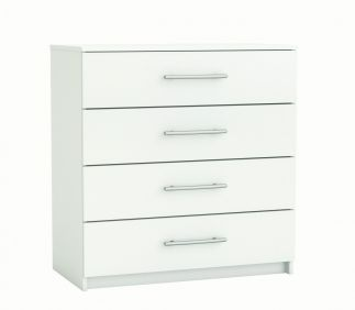 Washington 4 Drawer Chest - White