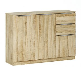 Chelsea 3 Door 2 Drawer Sideboard - Oak