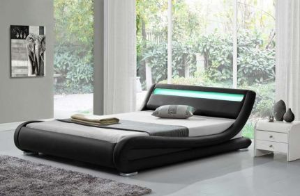 Rio LED Designer Bed Leather Bed Frame