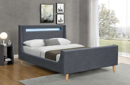 Visco LED Designer Fabric Bed Frame
