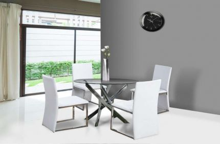 Pirlo Round Glass Dining Set