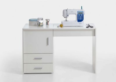 Alana White Sewing Machine Table Cabinet - 2691