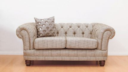 Chesterfield 2 Seater Chenille Fabric Sofa
