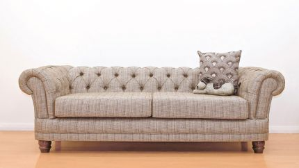 Chesterfield 3 Seater Chenille Fabric Sofa