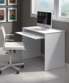 Blanco Small White Gloss Desk - 2491