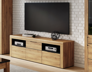 Camar Large Oak Effect 2 Drawer TV Cabinet K25 - 2708