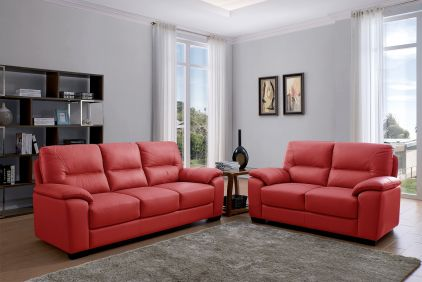 Rian 3 Plus 2 Seater Sofa Set - Red