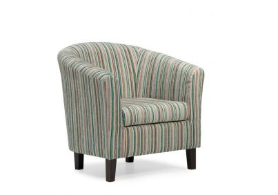 Dorset Stripe Tub Chair - Teal