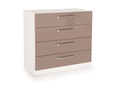 Connect Camden 4 Drawer Chest - High Gloss Mocha