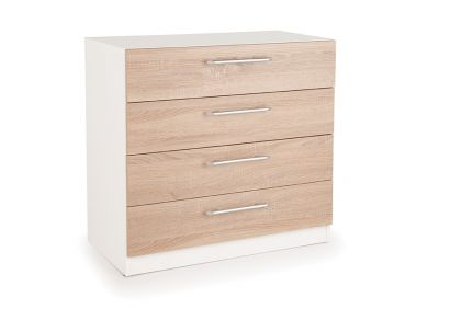 Connect Euston 4 Drawer Chest - White