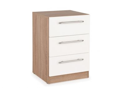 Connect Hyde 3 Drawer Bedside Cabinet - White