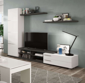 Dalya White and Grey Wall Entertainment Unit 016669G - 2917