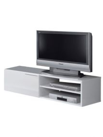 Flower White Gloss TV Unit - 2453