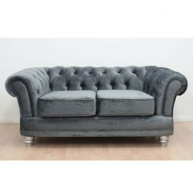Chesterfield French Velvet 2 Seater Sofa - Dusk