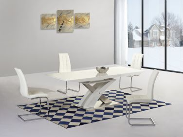 Westminister XO Extending Dining Table & Enia 4 Chairs Set