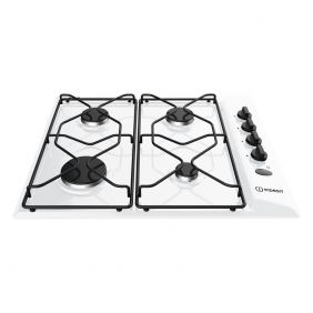 Indesit PAA642-1WH 580mm Built-In 4 Burner Gas Hob