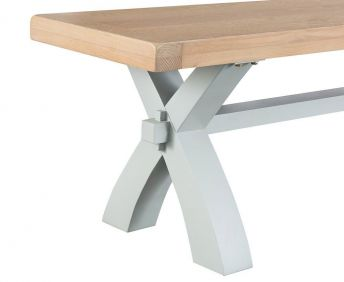 Trent Small Dining Bench Grey