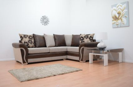 Lexi Fabric Double Arm Corner Sofa