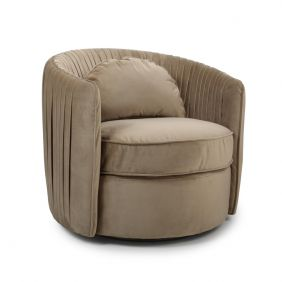 Marcel Tub Swivel Ball Brushed Velvet Chair
