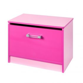 Marina Pink Gloss Two Tone Ottoman Storage