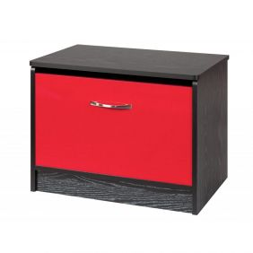 Marina Red Gloss & Black Ottoman Storage