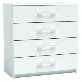 New York 4 Drawer Chest White