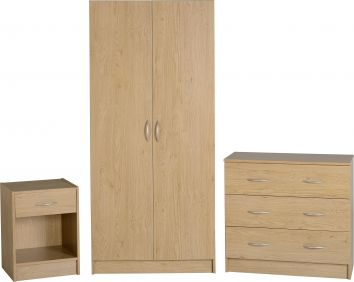 Belgravia Bedroom Set in Oak Veneer