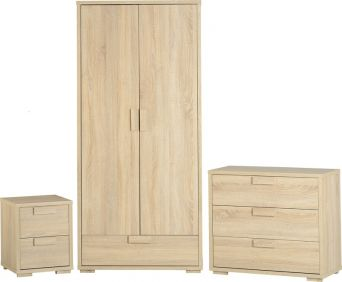 Camberwell Bedroom Set in Sonoma Oak Veneer