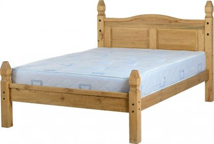 Darwin Double Bed Low Foot End in Pine