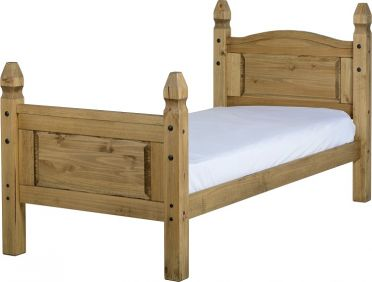 Darwin Single Bed High Foot End in Pine