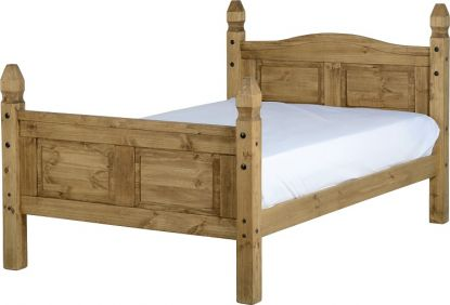 Darwin Small Double Bed High Foot End in Pine
