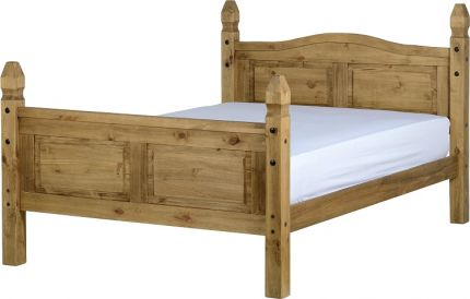 Darwin Double Bed High Foot End in Pine