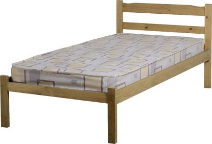 Majesty Single Bed in Natural Wax