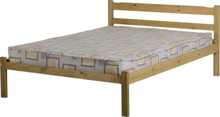 Majesty Double Bed in Natural Wax