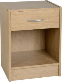 Belgravia 1 Drawer Bedside Cabinet in Oak Veneer