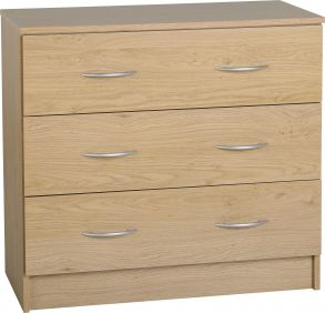 Belgravia 3 Drawer Chest in Oak Veneer