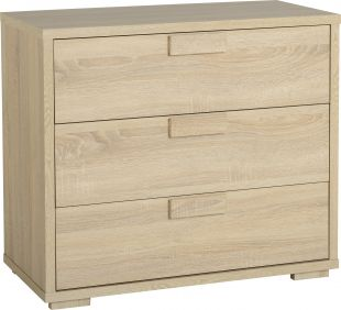 Camberwell 3 Drawer Chest in Sonoma Oak Veneer