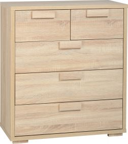 Camberwell 3 & 2 Drawer Chest in Sonoma Oak Veneer