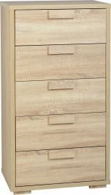 Camberwell 5 Drawer Chest in Sonoma Oak Veneer