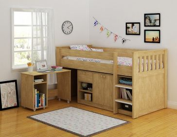 Marseille Study Bunk in Oak Veneer
