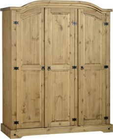 Darwin 3 Door Wardrobe in Pine