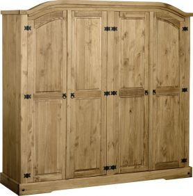 Darwin 4 Door Wardrobe in Pine