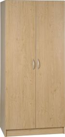 Belgravia 2 Door Wardrobe in Oak Veneer
