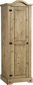 Darwin 1 Door Wardrobe in Pine