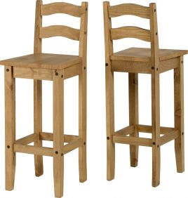 Darwin Bar Chair in Pine set of 2