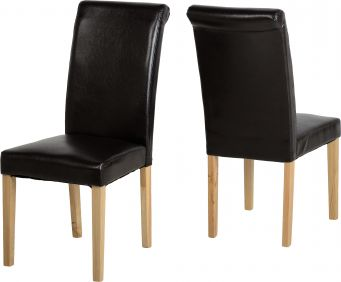 Manta Chair in Brown set of 2